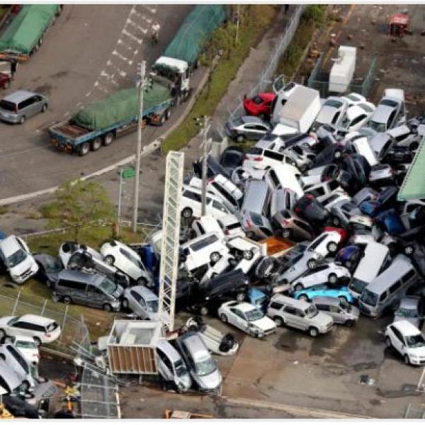 Япония подверглась первому удару тайфуна Джеби: уже есть жертвы – погибшие и раненые